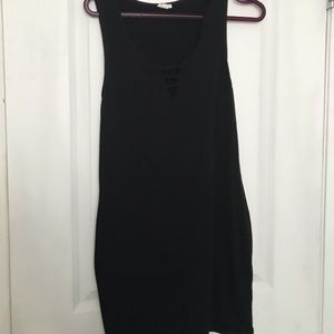 Garage sleeveless black tight dress